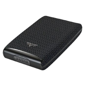 CREDIT CARD CASE FAN DIAGONAL CARBON BLACK