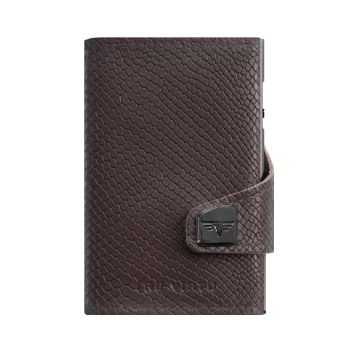 WALLET CLICK & SLIDE COBRA DARK BROWN