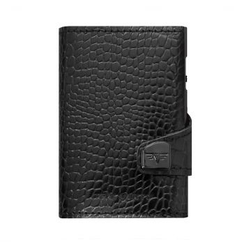 WALLET CLICK & SLIDE CROCO BLACK